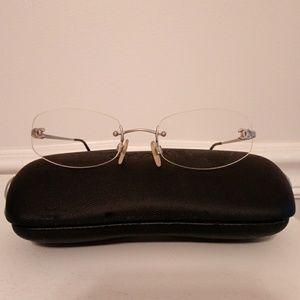 Chanel frameless eyeglasses. case included